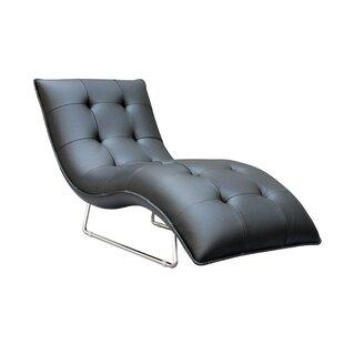 Wade Logan Alsatia Leather Chaise Lounge