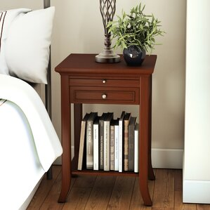 American Heritage End Table With Storage by Andover Mills