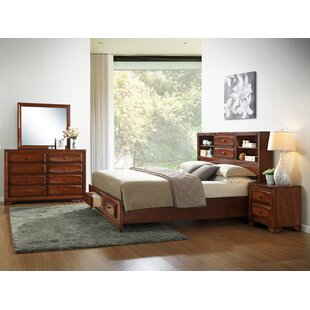 Asger King Platform Configurable Bedroom Set by Roundhill Furniture