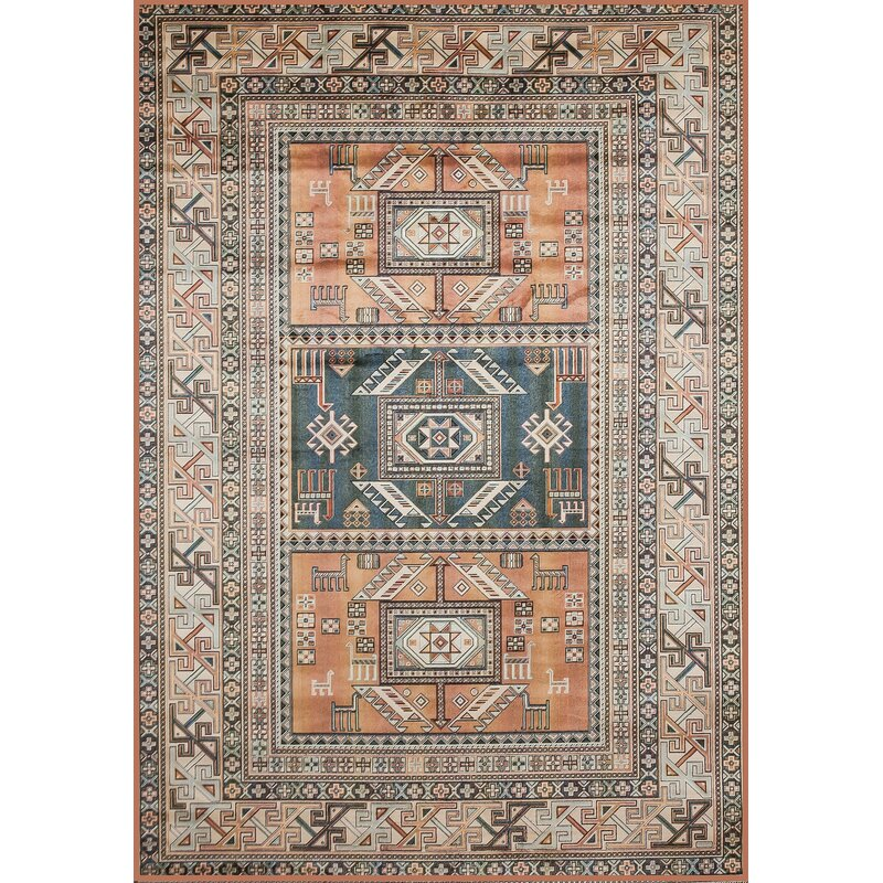 Ovid Oriental Tangerine Rust Area Rug Amp Reviews Birch Lane