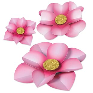 Paper Flower 3 Piece Sculpture Set (Set of 2)