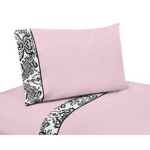 Sweet Jojo Designs Sophia 4 Piece 100% Cotton Sheet Set