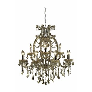House of Hampton Regina 12-Light Chain Candle Style Chandelier