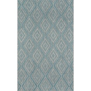 Madcap Cottage by Momeni Lake Palace Rajastan Weekend Light Blue Indoor/Outdoor Area Rug 2' X 3