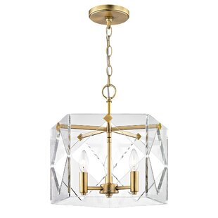 Mercer41 Rigsby 3-Light Geometric Chandelier
