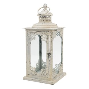 Compare Metal and Glass Lantern By Serene Spaces Living
