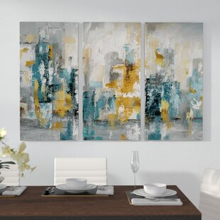 U0027City Views IIu0027 Acrylic Painting Print Multi Piece Image On Gallery Wrapped  Canvas
