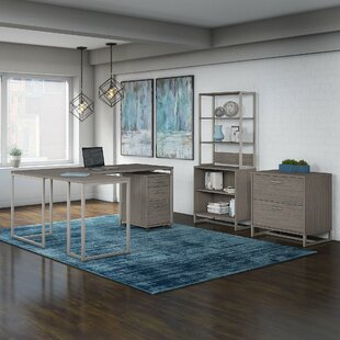 Kathy Ireland Office by Bush Method 4 Piece Desk Office Suite