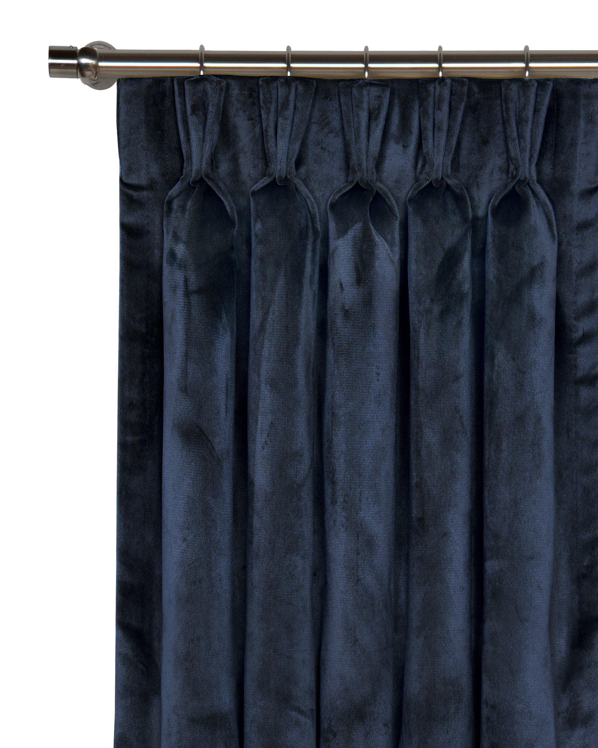 Eastern Accents Nellis Velvet Solid Room Darkening Pinch Pleat Single Curtain Panel Perigold