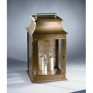 Best Concord 3-Light Outdoor Flush Mount By Northeast Lantern