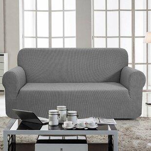 Jacquard Box Cushion Loveseat Slipcover