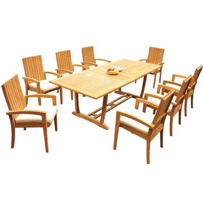 Willis 9 Piece Teak Dining Set by Bayou Breeze Coupon