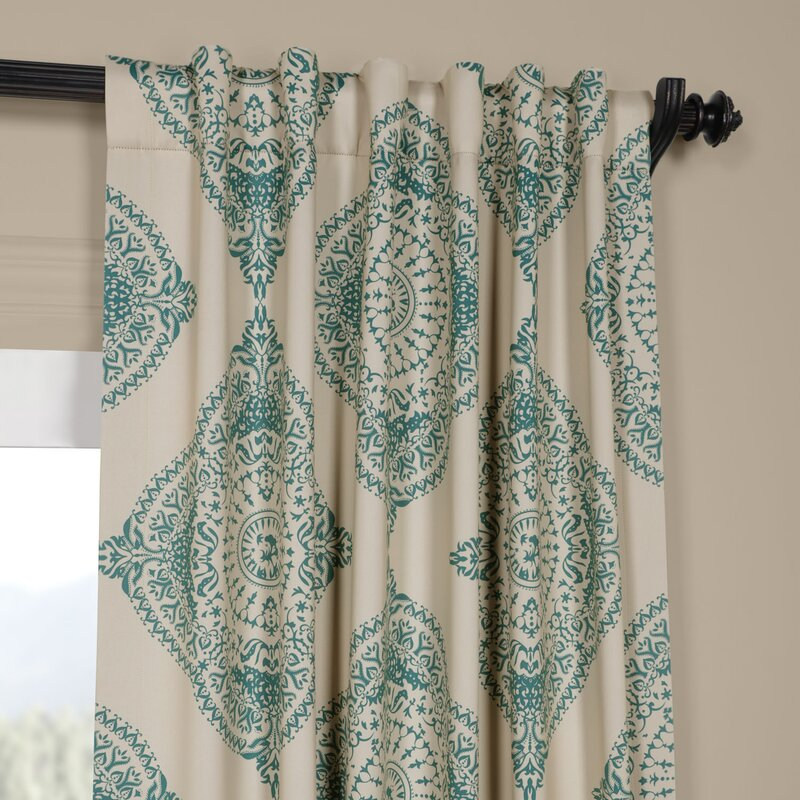 Alessandro Damask Blackout Thermal Single Curtain Panel & Reviews ...