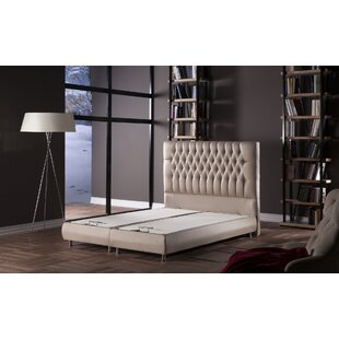 Alannys Tufted Upholstered Low Profile Storage Sleigh Bed