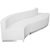 Krysten 99.5 Faux leather Right Hand Facing Modular Sectional by Orren Ellis