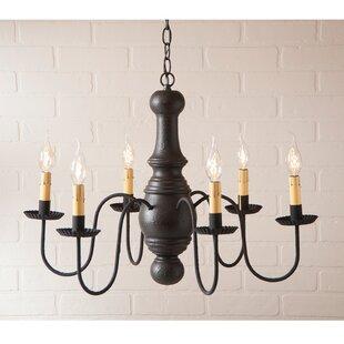 Gracie Oaks Whetstone Wood 6-Light Chandelier