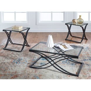 Ebern Designs Rundell 3 Piece Coffee Table Set