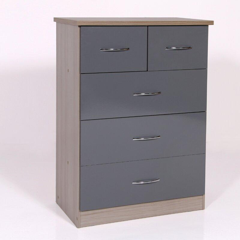 Latitude Run Amiens 5 Drawer Chest Standard Dresser