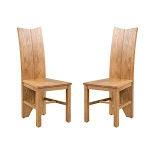 Alicia Solid Wood Dining Chair (Set of 2) by Foundry Select