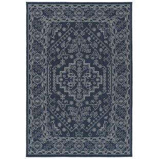 Kirsty Navy Indoor/Outdoor Area Rug by Canora Grey