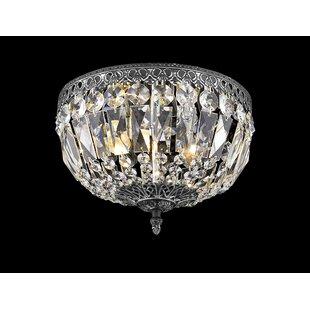 Astoria Grand Baronets Modern 2-Light Flush Mount