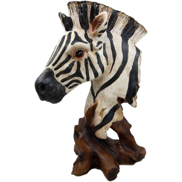 Wooden Zebra Statue Wayfair Ca