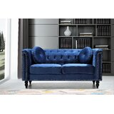 Whetzel Chesterfield 64 Rolled Arms Loveseat by Rosdorf Park