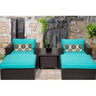Meier 5 Piece Conversation Set With Cushions by Rosecliff Heights