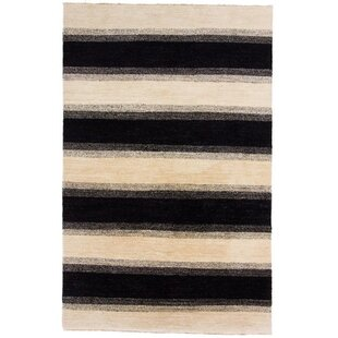 Carytown Hand Knotted Wool Beige Rug by Rosalind Wheeler