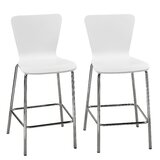 Viqueque Bentwood 24 Bar Stool (Set of 2) by Latitude Run