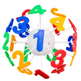 Children Numbers 35cm Plastic Novelty Pendant Shade by Zoomie Kids