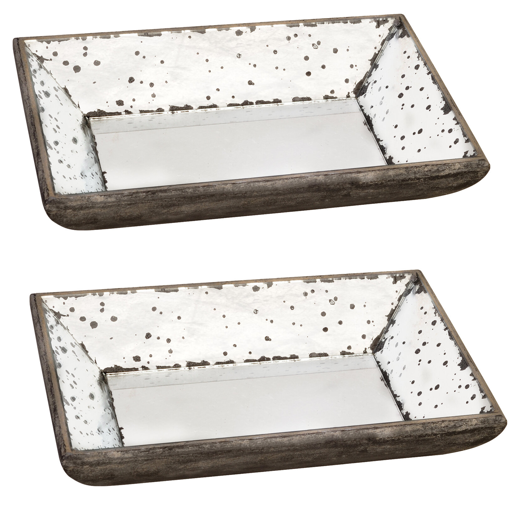 Gracie Oaks Lecompte Mirrored Glass Serving Tray Wayfair Ca