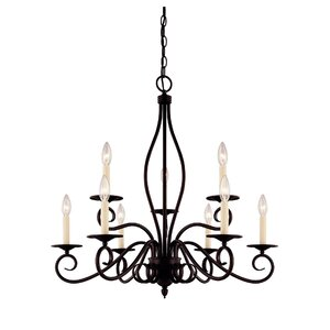 Bryce 9-Light Candle-Style Chandelier