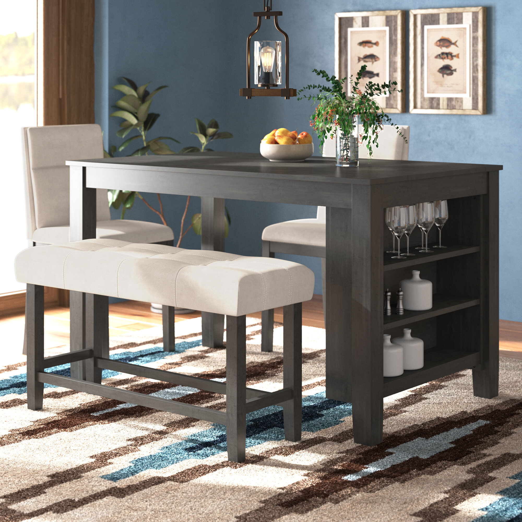 Counter Height Grey Kitchen Dining Room Sets You Ll Love