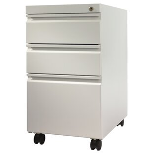 Trendway Pedestal 3-Drawer Mobile Vertical Filing Cabinet