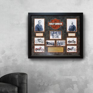 Autographed Collage 'William Harley and Arthur Davidson' Framed Memorabilia By LuxeWest