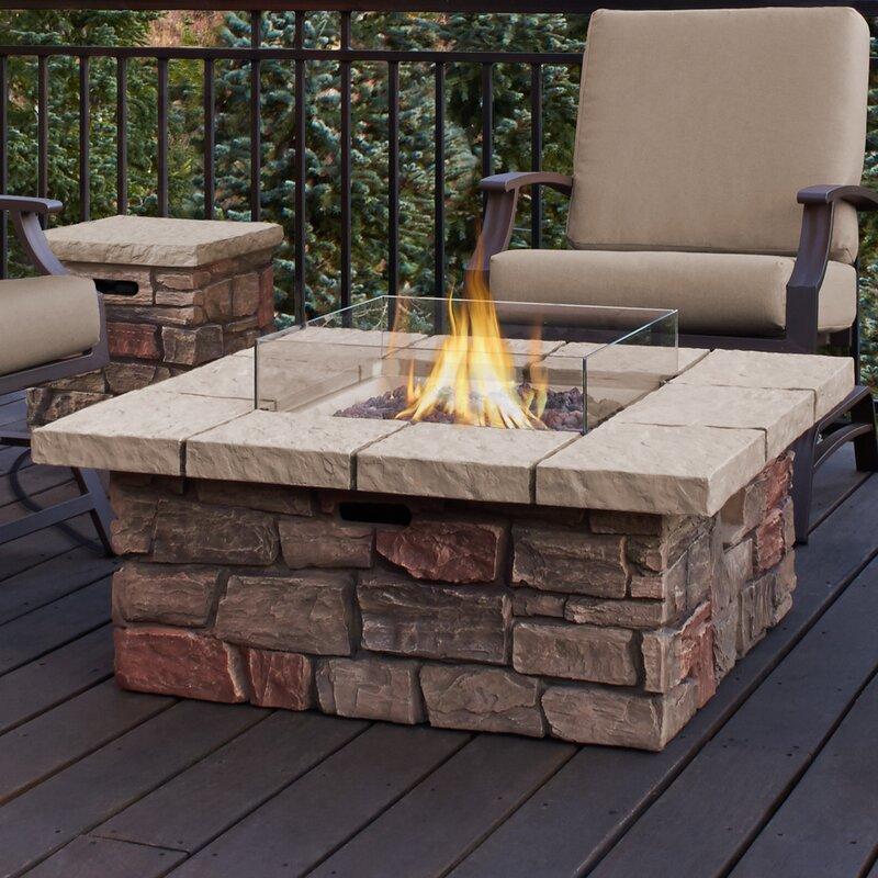 Real Flame Sedona Concrete Propane Natural Gas Fire Pit Table Reviews Wayfair
