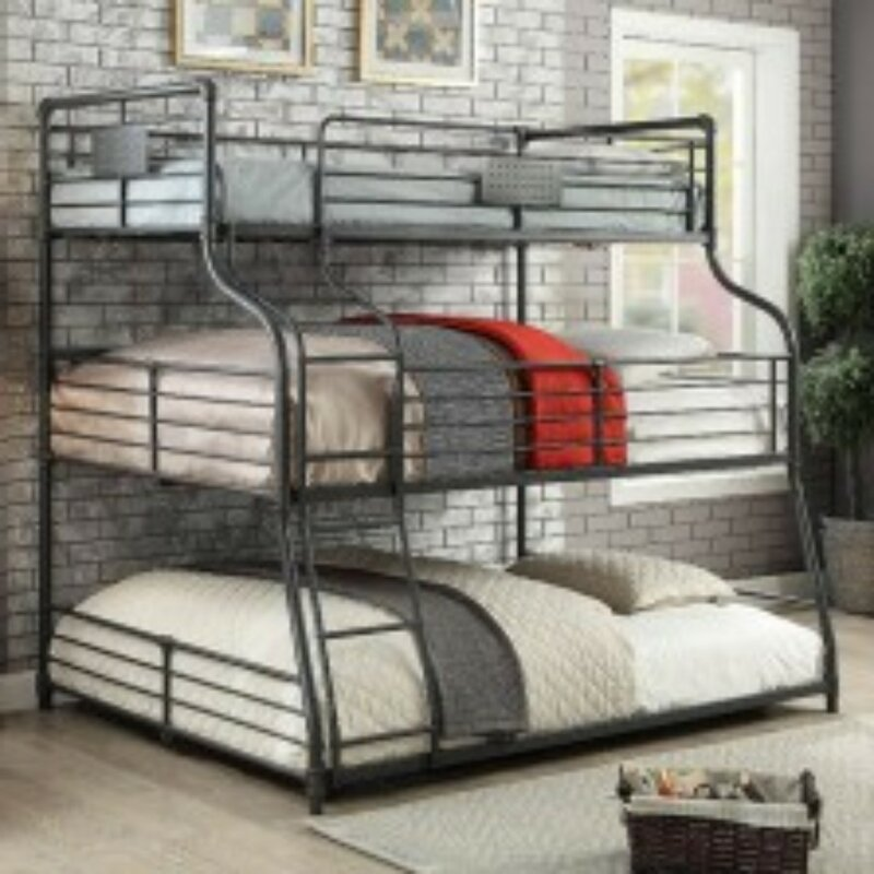 Harriet Bee Oakengates Twin Over Full Over Queen Bunk Bed ...
