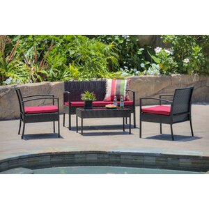 Fayette 4 Piece Sofa Set with Cushions