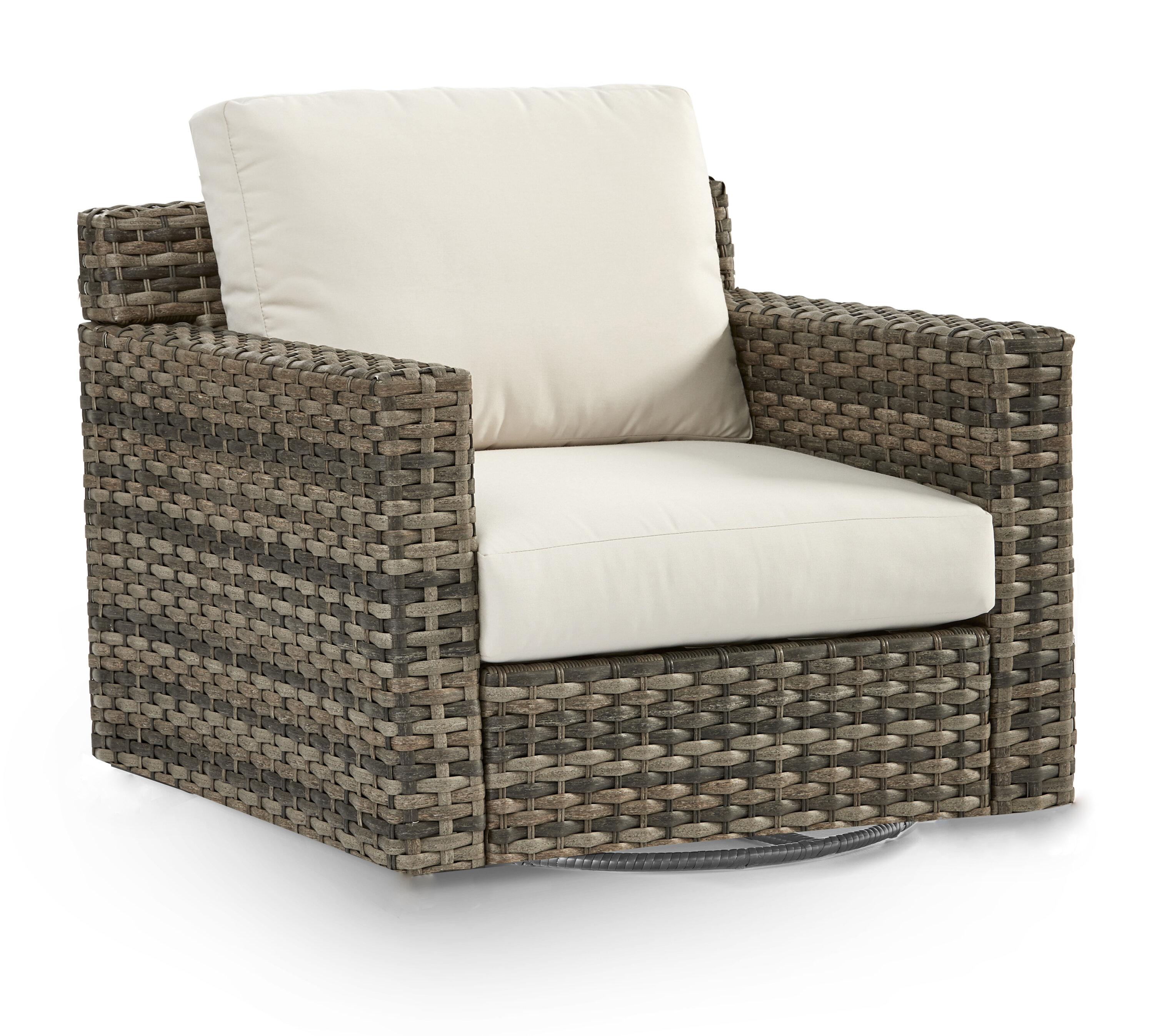Picture of: Rosecliff Heights Varney Patio Glider Chair With Cushion Wayfair
