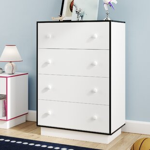 Shyann Contemporary 4 Drawer Chest By Zoomie Kids