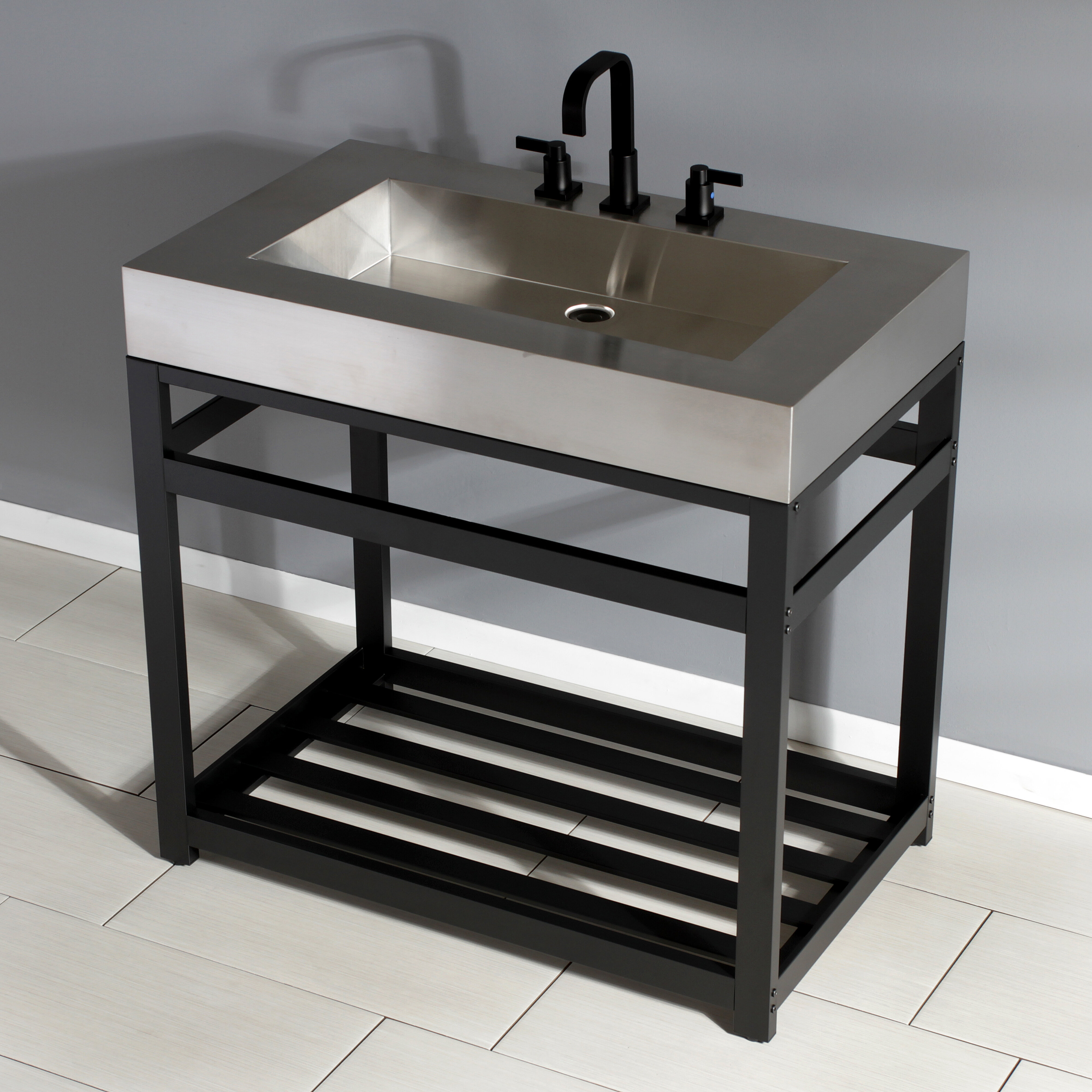 Kingston Brass Fauceture Metal Console Bathroom Sink Wayfair