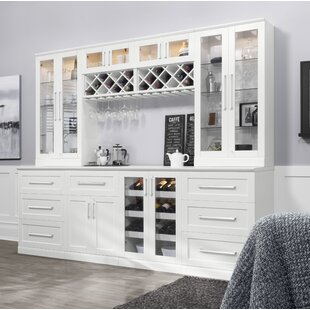 NewAge Products Home Bar Shaker Style Back Bar with Wine Storage