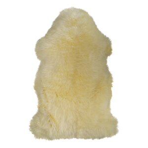 Petra Hand-Woven Sheepskin Yellow Area Rug