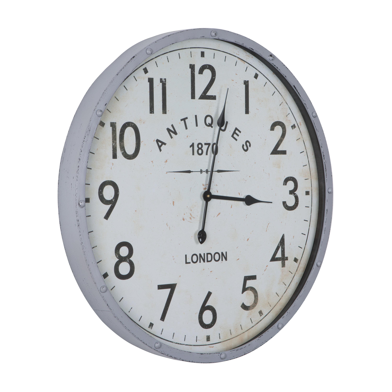 Gracie Oaks Oversized Antique 1870 26 77 Wall Clock Reviews Wayfair Ca