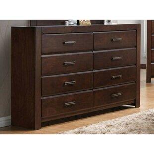 Ivy Bronx Ontario Wooden 8 Drawer Double Dresser
