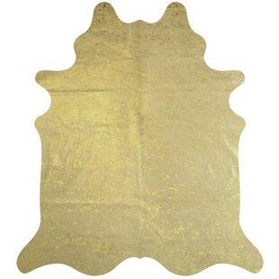 Gold Metallic Cowhide Rug Wayfair