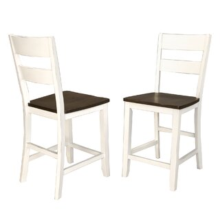 Aguero Counter Height Solid Wood Dining Chair (Set of 2) by Canora Grey SKU:CB931865 Check Price