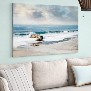 Home Decor Crystal Ocean And Blue Sky Seascape Canvas Painting Beach Chair Print On Canvas Pop Art Picture Wall Painting For Living Room