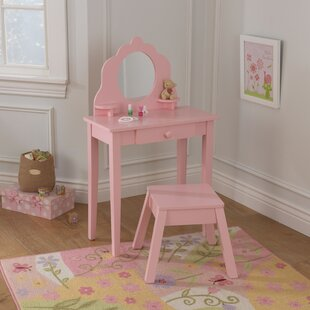 Affordable Price Diva 2 Piece Vanity Set with Mirror ByKidKraft